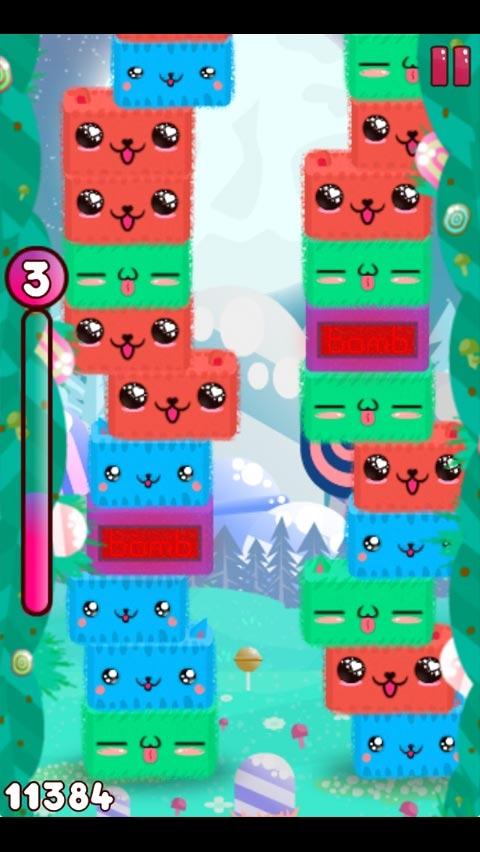 休闲娱乐介绍:一款画风可爱的消除类游戏,五颜六色的猫咪玩起叠罗汉,3